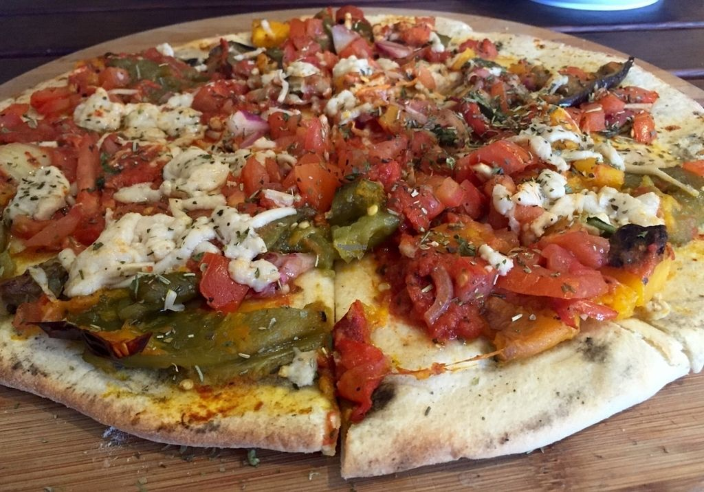 "Photo of CassellBella's Bakery Cafe  by <a href=""/members/profile/karlaess"">karlaess</a> <br/>Roasted vegetable vegan pizza <br/> September 4, 2016  - <a href='/contact/abuse/image/73946/173496'>Report</a>"
