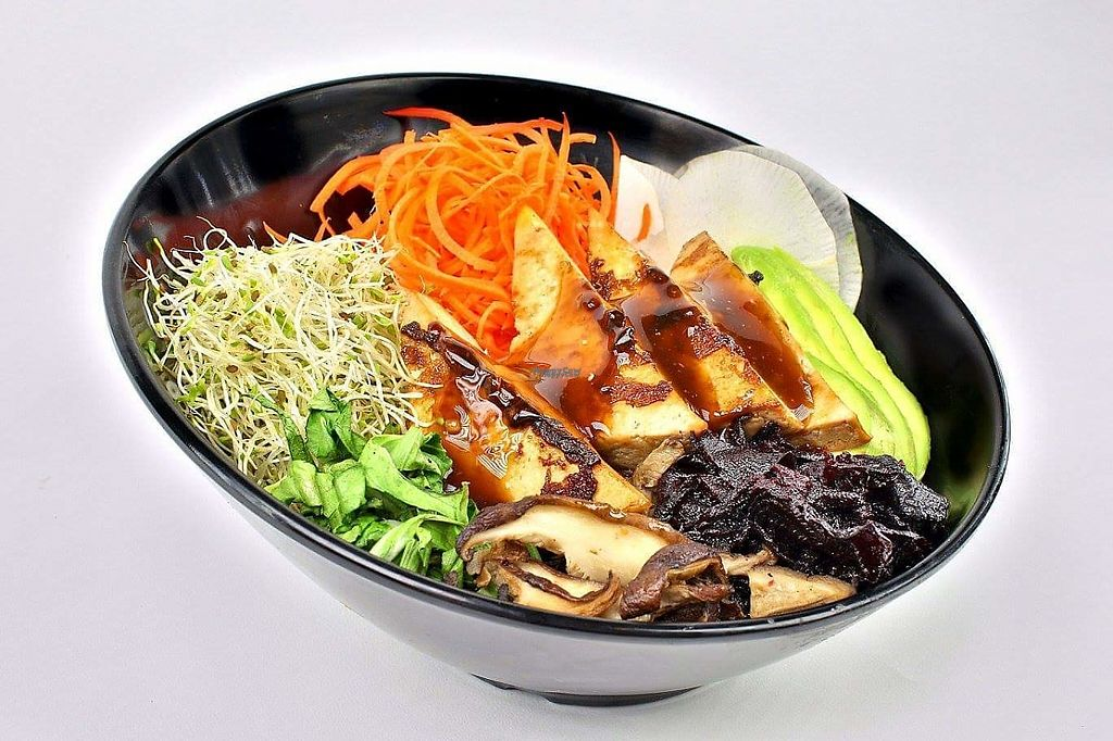 """Photo of Ogari San  by <a href=""""/members/profile/Pepetolstoi"""">Pepetolstoi</a> <br/>Dragon bowl with orange and sesame sauce , terriyaki tofu, avocado, spinach, rice, carrot, beet, daikon, luzern, mushroom. Delicious! <br/> March 17, 2017  - <a href='/contact/abuse/image/73950/237269'>Report</a>"""