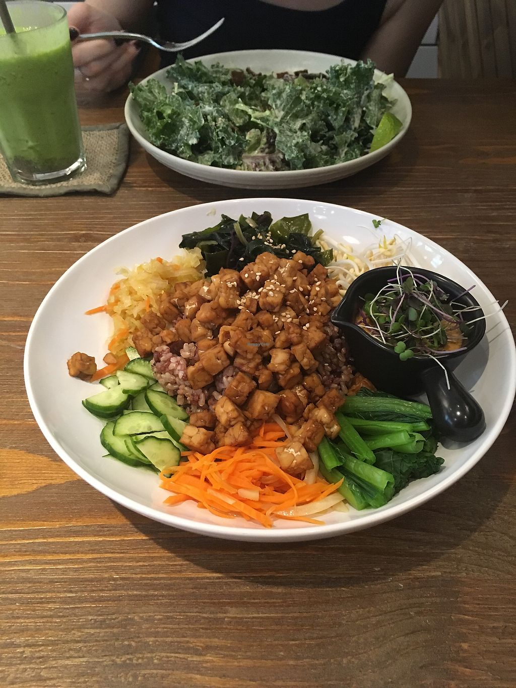 "Photo of Plants  by <a href=""/members/profile/Npczski"">Npczski</a> <br/>Green smoothie, kale Caesar, and bibimbap  <br/> January 3, 2018  - <a href='/contact/abuse/image/73952/342390'>Report</a>"