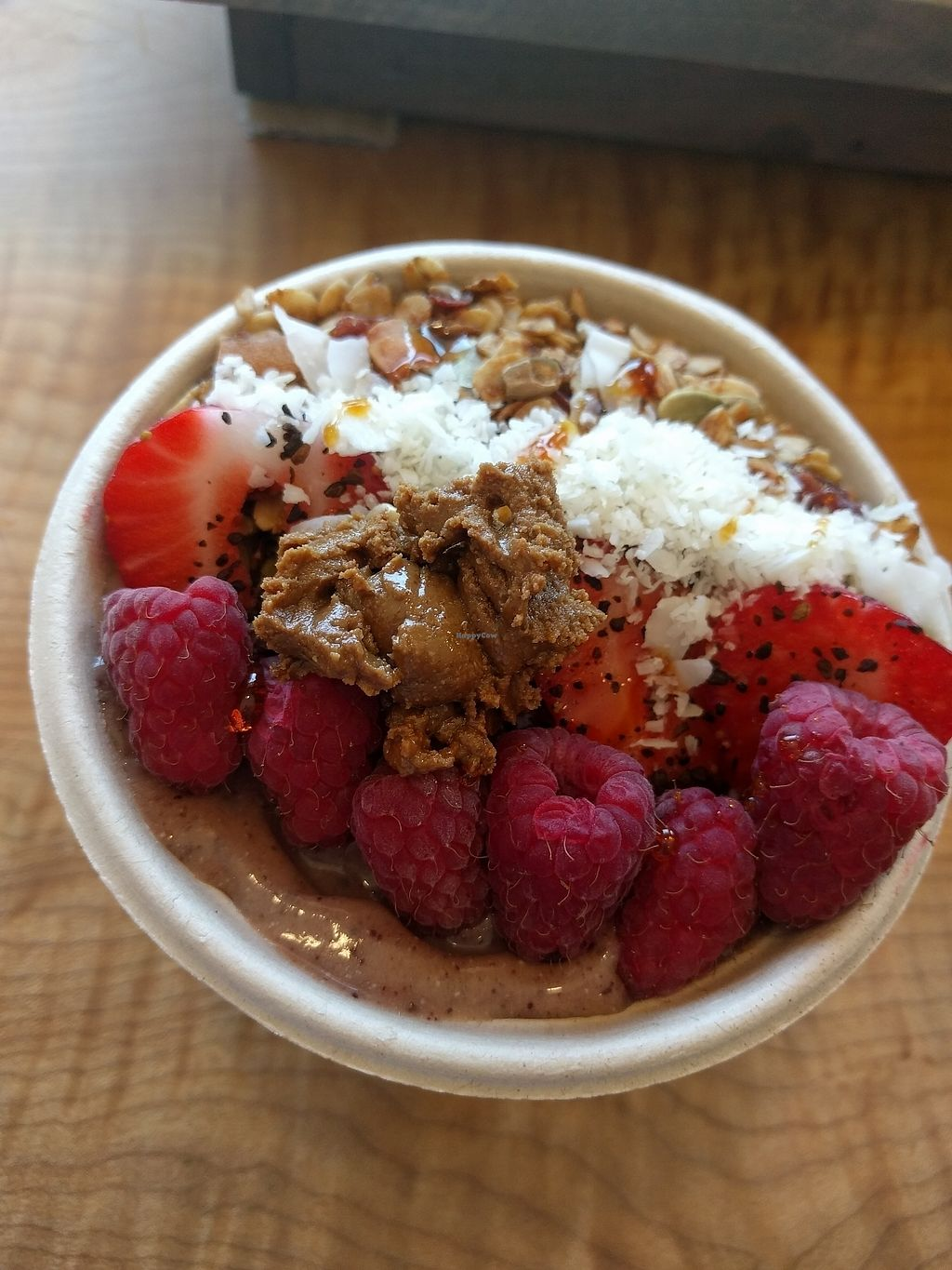 "Photo of CLOSED: The Hunter's Wife Health Bar  by <a href=""/members/profile/plantpig"">plantpig</a> <br/>Dessert acai bowl <br/> July 24, 2017  - <a href='/contact/abuse/image/74000/284502'>Report</a>"