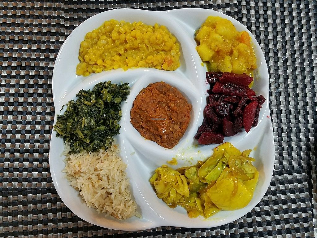 """Photo of Habesha Ethiopian Restaurant  by <a href=""""/members/profile/jad37379"""">jad37379</a> <br/>Vegetarian Combo <br/> March 2, 2018  - <a href='/contact/abuse/image/74037/365763'>Report</a>"""