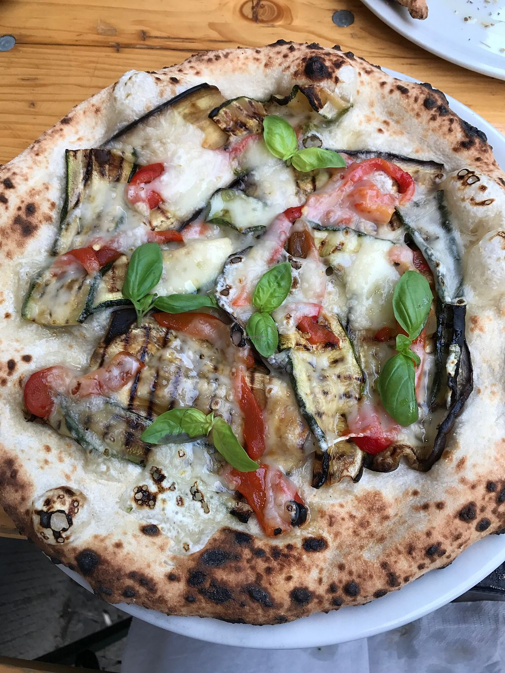 """Photo of La Stella Nera  by <a href=""""/members/profile/KittyVelour"""">KittyVelour</a> <br/>grilled veggie pizza <br/> July 6, 2017  - <a href='/contact/abuse/image/74041/277228'>Report</a>"""