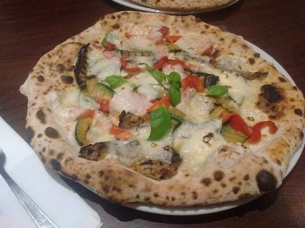 """Photo of La Stella Nera  by <a href=""""/members/profile/Toast%20and%20Avocado"""">Toast and Avocado</a> <br/>vegan pizza <br/> October 30, 2017  - <a href='/contact/abuse/image/74041/320229'>Report</a>"""