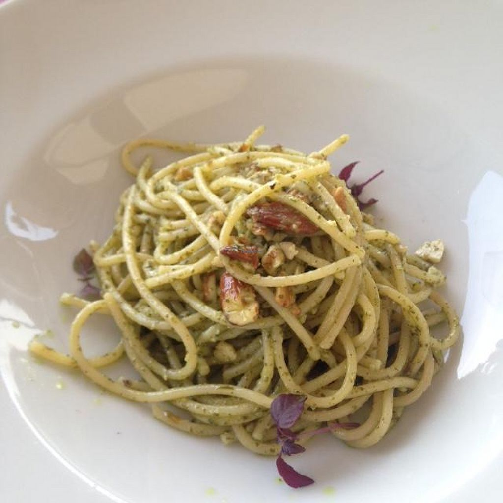 "Photo of Vecio Mulin  by <a href=""/members/profile/JillyD~"">JillyD~</a> <br/>2nd course: Spaghetti with almond pesto <br/> May 22, 2016  - <a href='/contact/abuse/image/74055/150296'>Report</a>"