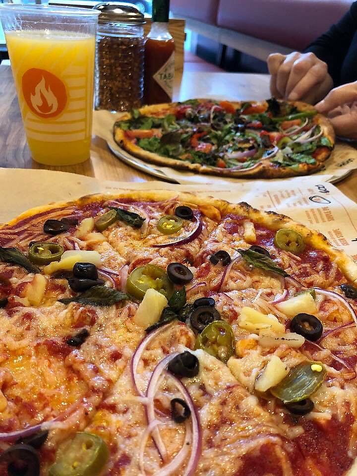 """Photo of Blaze Pizza  by <a href=""""/members/profile/BriggitteJ"""">BriggitteJ</a> <br/>Vegan pizza with Daiya cheese <br/> April 15, 2018  - <a href='/contact/abuse/image/74063/385979'>Report</a>"""