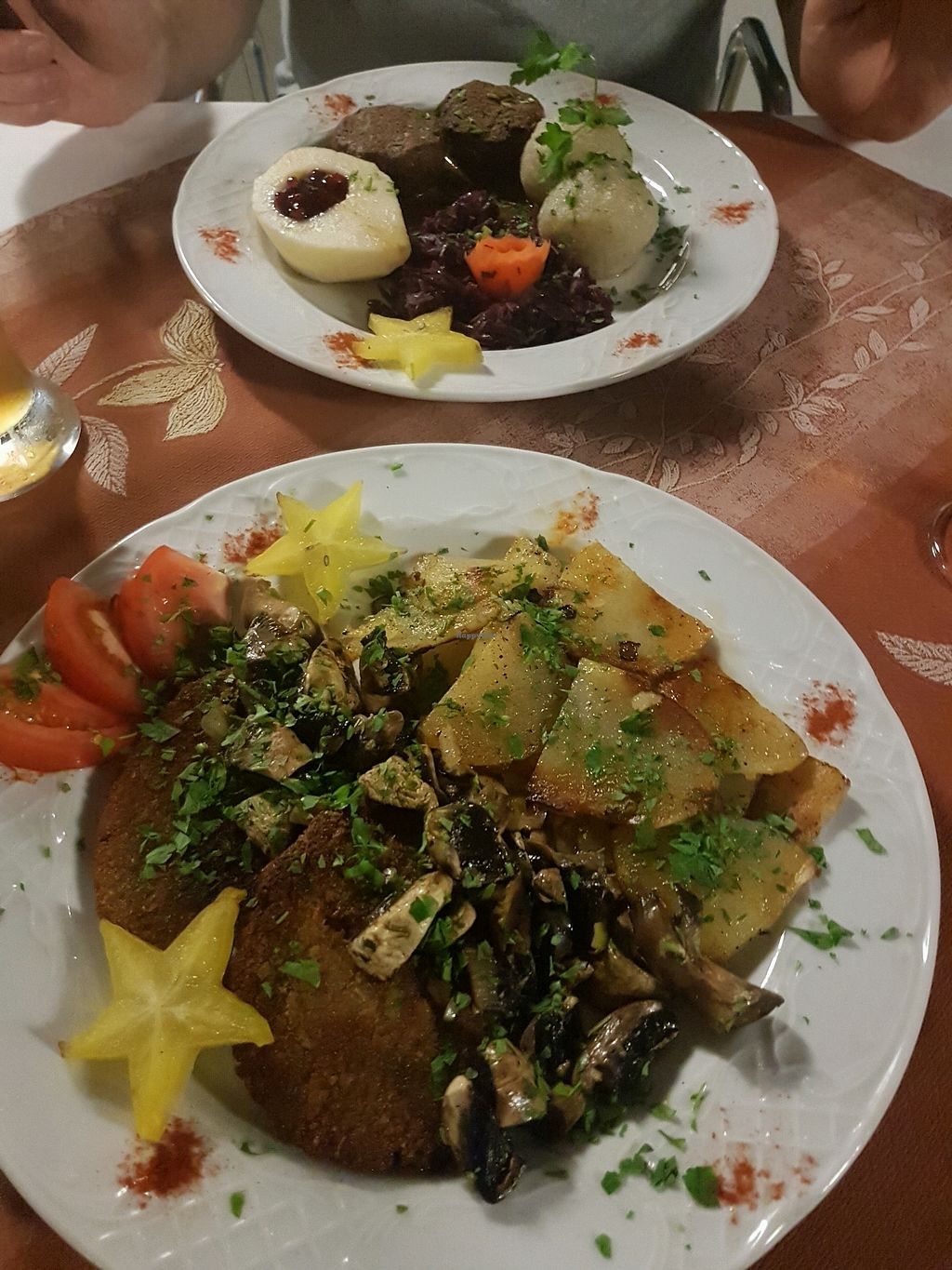 """Photo of Meson Aleman Atlantis  by <a href=""""/members/profile/MissEni78"""">MissEni78</a> <br/>new dishes: Schnitzel and nut roast <br/> October 30, 2017  - <a href='/contact/abuse/image/74104/320241'>Report</a>"""
