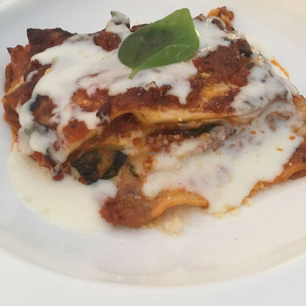 """Photo of Mater Terrae at Hotel Raphael  by <a href=""""/members/profile/StuartAcook"""">StuartAcook</a> <br/>Vegetarian lasagne  <br/> June 25, 2016  - <a href='/contact/abuse/image/74105/156030'>Report</a>"""