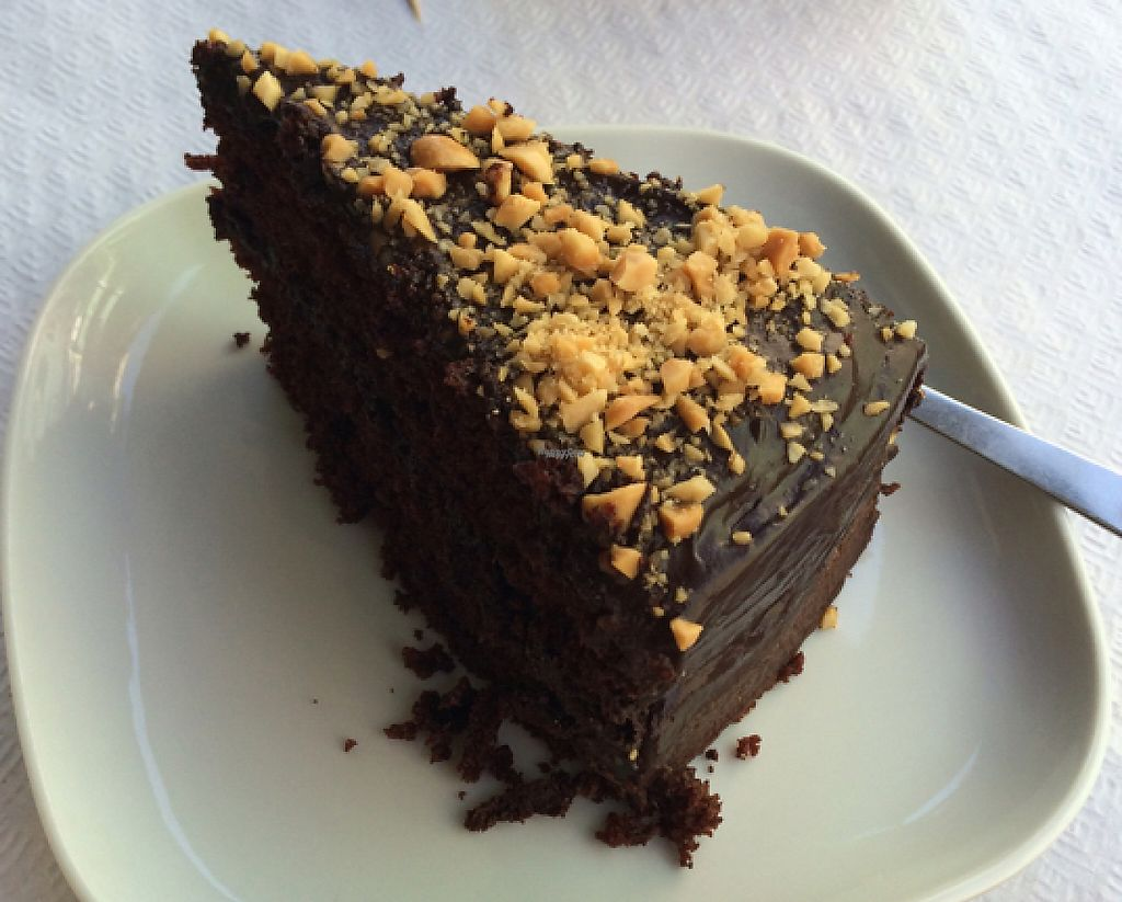 "Photo of Veganeats Caffe  by <a href=""/members/profile/veroniquerachel"">veroniquerachel</a> <br/>super yummy veg chocolate cake with peanuts  <br/> August 25, 2016  - <a href='/contact/abuse/image/74111/241220'>Report</a>"