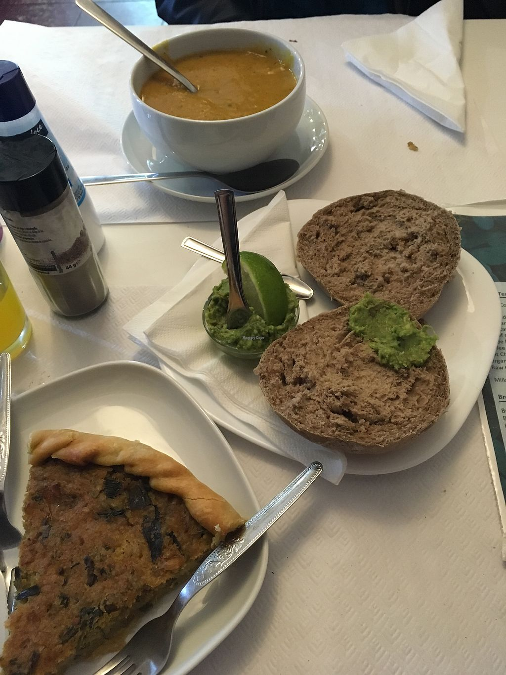 "Photo of Veganeats Caffe  by <a href=""/members/profile/Oxymora"">Oxymora</a> <br/>Vegetable quiche, chick peas soup and avocado toasts <br/> January 4, 2018  - <a href='/contact/abuse/image/74111/342979'>Report</a>"