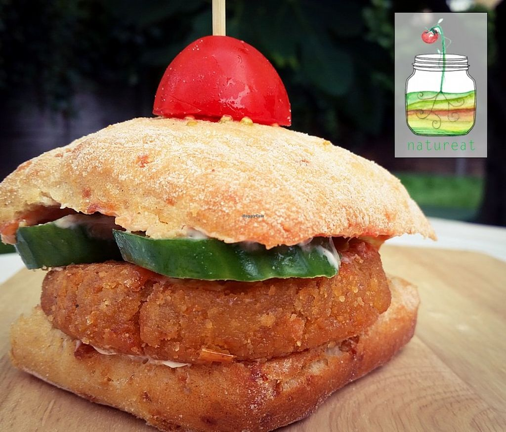 """Photo of Natureat  by <a href=""""/members/profile/Natureat"""">Natureat</a> <br/>vegan Burger <br/> June 9, 2016  - <a href='/contact/abuse/image/74156/153127'>Report</a>"""