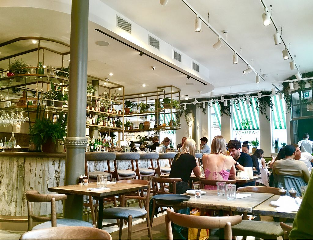 """Photo of Farmacy  by <a href=""""/members/profile/milos99"""">milos99</a> <br/>dining room and bar - beautifully appointed! <br/> July 24, 2017  - <a href='/contact/abuse/image/74162/284335'>Report</a>"""