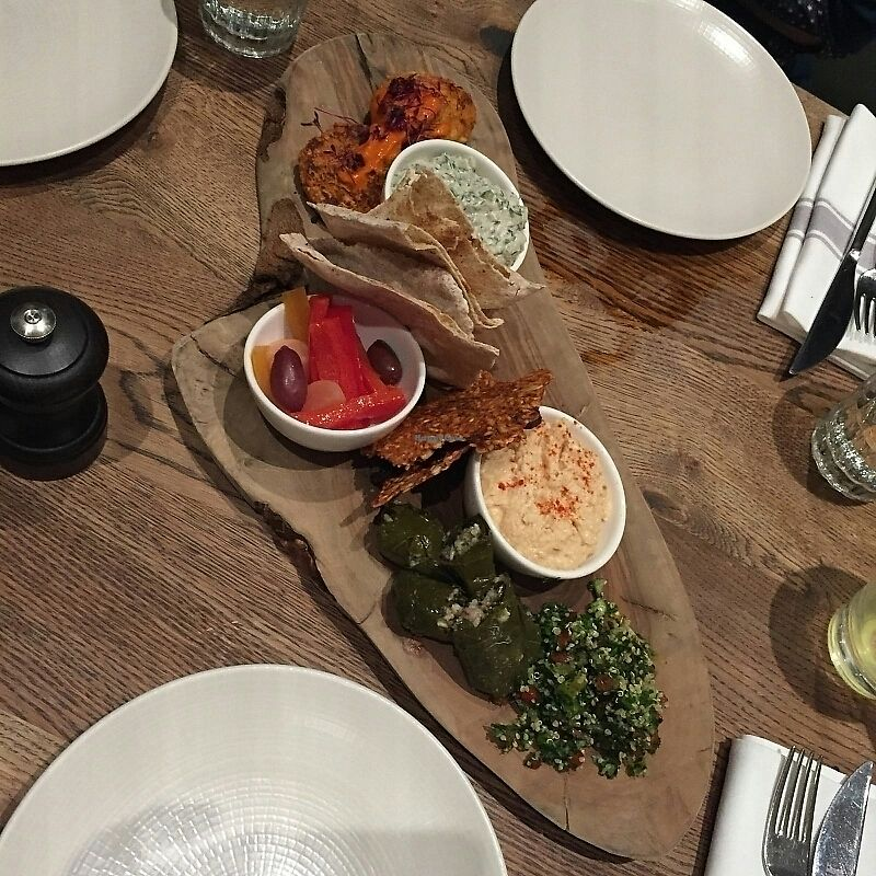 """Photo of Farmacy  by <a href=""""/members/profile/Sassyvegan"""">Sassyvegan</a> <br/>Mezze sharing platter <br/> November 28, 2017  - <a href='/contact/abuse/image/74162/330056'>Report</a>"""