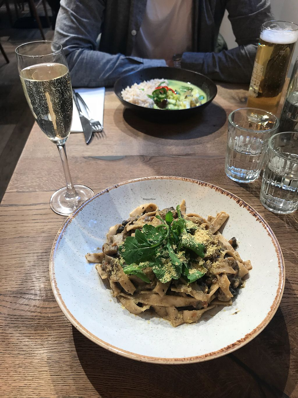 """Photo of Farmacy  by <a href=""""/members/profile/soph161"""">soph161</a> <br/>Mushroom pasta and curry <br/> April 9, 2018  - <a href='/contact/abuse/image/74162/383020'>Report</a>"""
