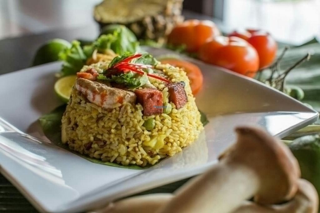 """Photo of Sukaphat Thai Vegetarian Restaurant  by <a href=""""/members/profile/JessieLim"""">JessieLim</a> <br/>pineapple fried rice  <br/> August 13, 2016  - <a href='/contact/abuse/image/74169/168069'>Report</a>"""