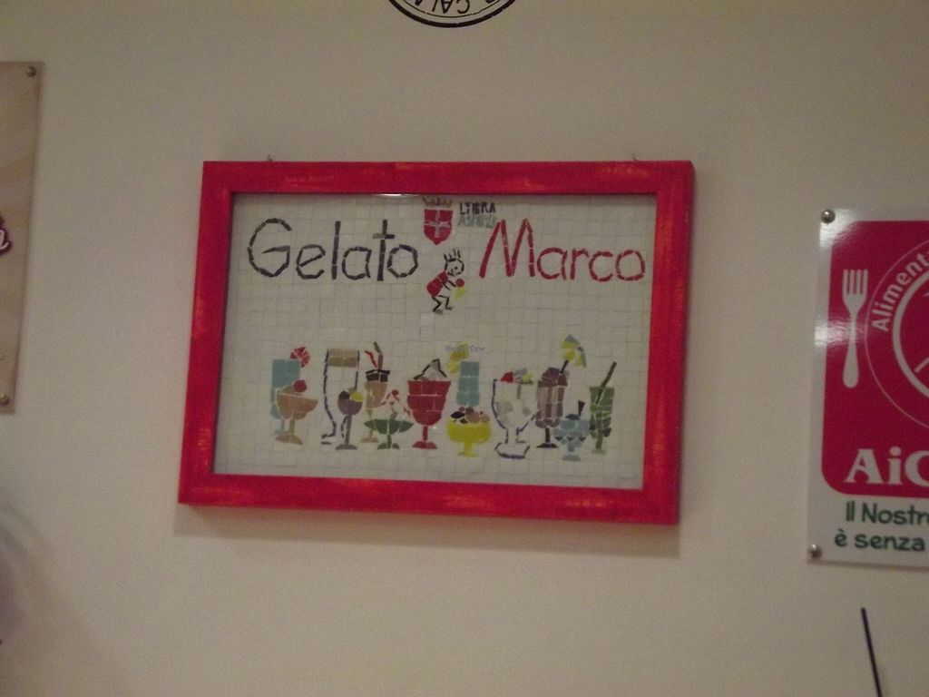 "Photo of Gelato Marco  by <a href=""/members/profile/kovacsrami"">kovacsrami</a> <br/>Cute mosaic with their logo <br/> May 25, 2016  - <a href='/contact/abuse/image/74201/150826'>Report</a>"