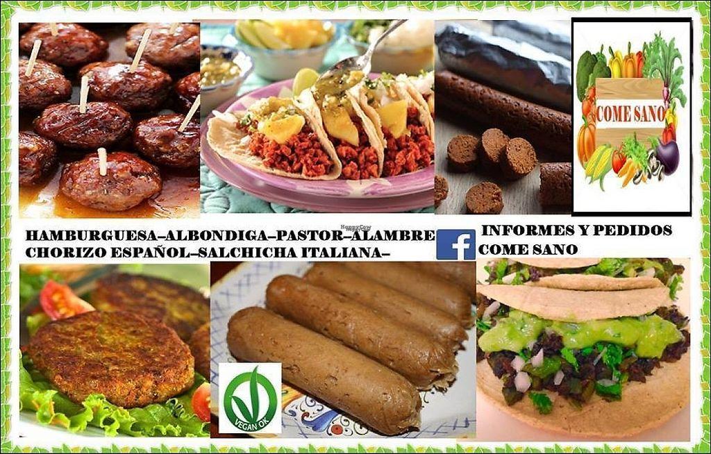 """Photo of Come Sano  by <a href=""""/members/profile/Saravit"""">Saravit</a> <br/>Prueba nuestras """"Carnes Vegetales"""" deliciosas,nutritivas y muy económicas. Tenemos gran variedad <br/> March 31, 2017  - <a href='/contact/abuse/image/74204/242963'>Report</a>"""