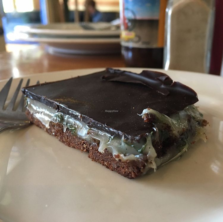"""Photo of Whispers Cafe  by <a href=""""/members/profile/Yolanda"""">Yolanda</a> <br/>sugar free chocolate peppermint slice  <br/> July 15, 2017  - <a href='/contact/abuse/image/74234/280504'>Report</a>"""