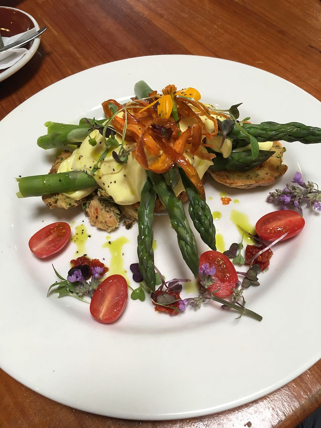 """Photo of Whispers Cafe  by <a href=""""/members/profile/perkonius"""">perkonius</a> <br/>Vegan Benedict. Hollandaise was spectacular! <br/> November 26, 2017  - <a href='/contact/abuse/image/74234/329216'>Report</a>"""