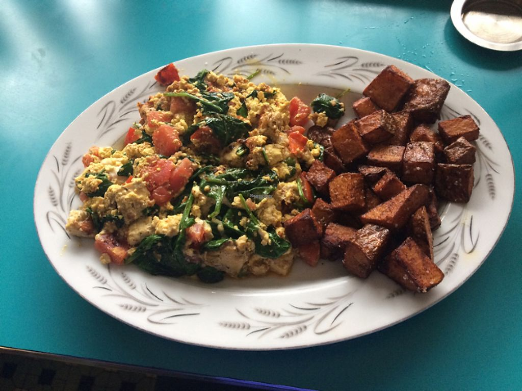 """Photo of The Tasty  by <a href=""""/members/profile/scienceofherself"""">scienceofherself</a> <br/>Greek tofu scramble  <br/> April 6, 2017  - <a href='/contact/abuse/image/74254/245247'>Report</a>"""