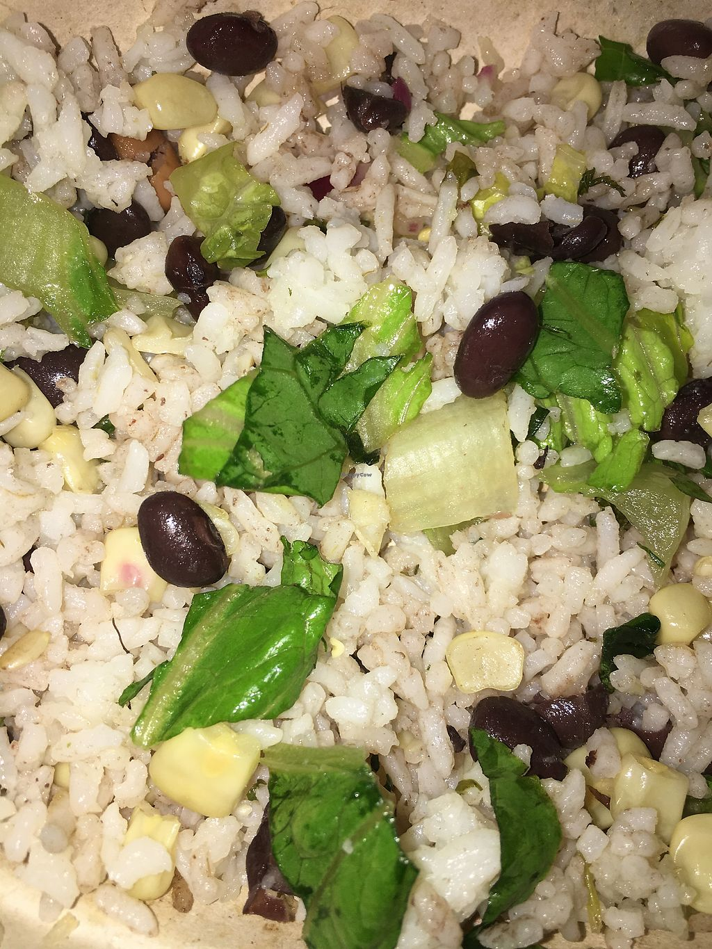 "Photo of Chipotle  by <a href=""/members/profile/brianna_roth"">brianna_roth</a> <br/>White Rice, Black Beans, Corn, and Lettuce! Yum <br/> August 8, 2017  - <a href='/contact/abuse/image/74256/290460'>Report</a>"