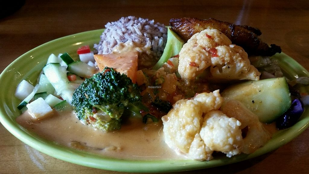 """Photo of The Jerk House  by <a href=""""/members/profile/Conniemm"""">Conniemm</a> <br/>Jamaican coconut veggie stir fry <br/> October 18, 2017  - <a href='/contact/abuse/image/74259/316482'>Report</a>"""