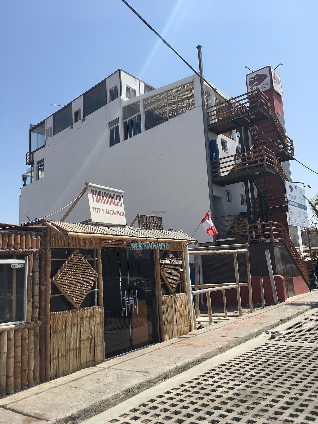 "Photo of Pukasoncco arte y Restaurant  by <a href=""/members/profile/peas-full"">peas-full</a> <br/>right beneath the Paracas Restaurant <br/> October 6, 2017  - <a href='/contact/abuse/image/74266/312458'>Report</a>"