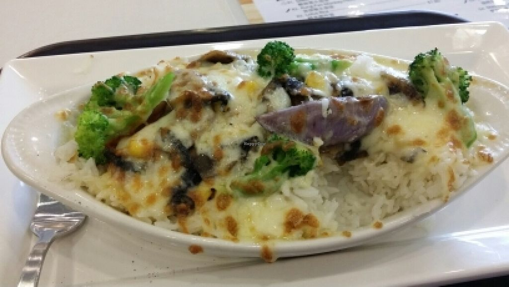 """Photo of CLOSED: GroVe  by <a href=""""/members/profile/KahHwee"""">KahHwee</a> <br/>Vege baked rice with pink source <br/> May 30, 2016  - <a href='/contact/abuse/image/74279/151411'>Report</a>"""