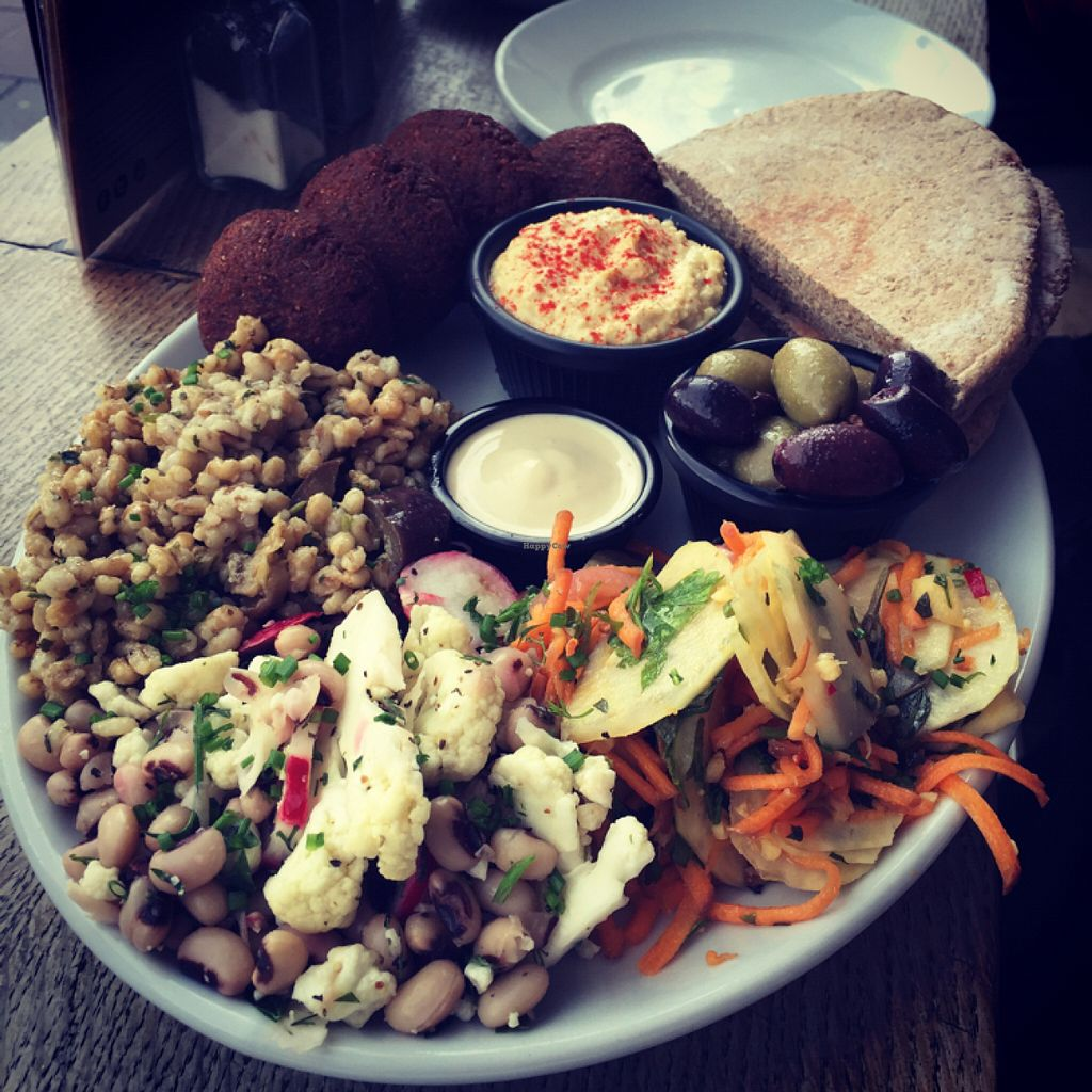 "Photo of Cafe Kino  by <a href=""/members/profile/Herbalwizzkid"">Herbalwizzkid</a> <br/>Falafel sharing platter <br/> July 11, 2016  - <a href='/contact/abuse/image/7428/159137'>Report</a>"