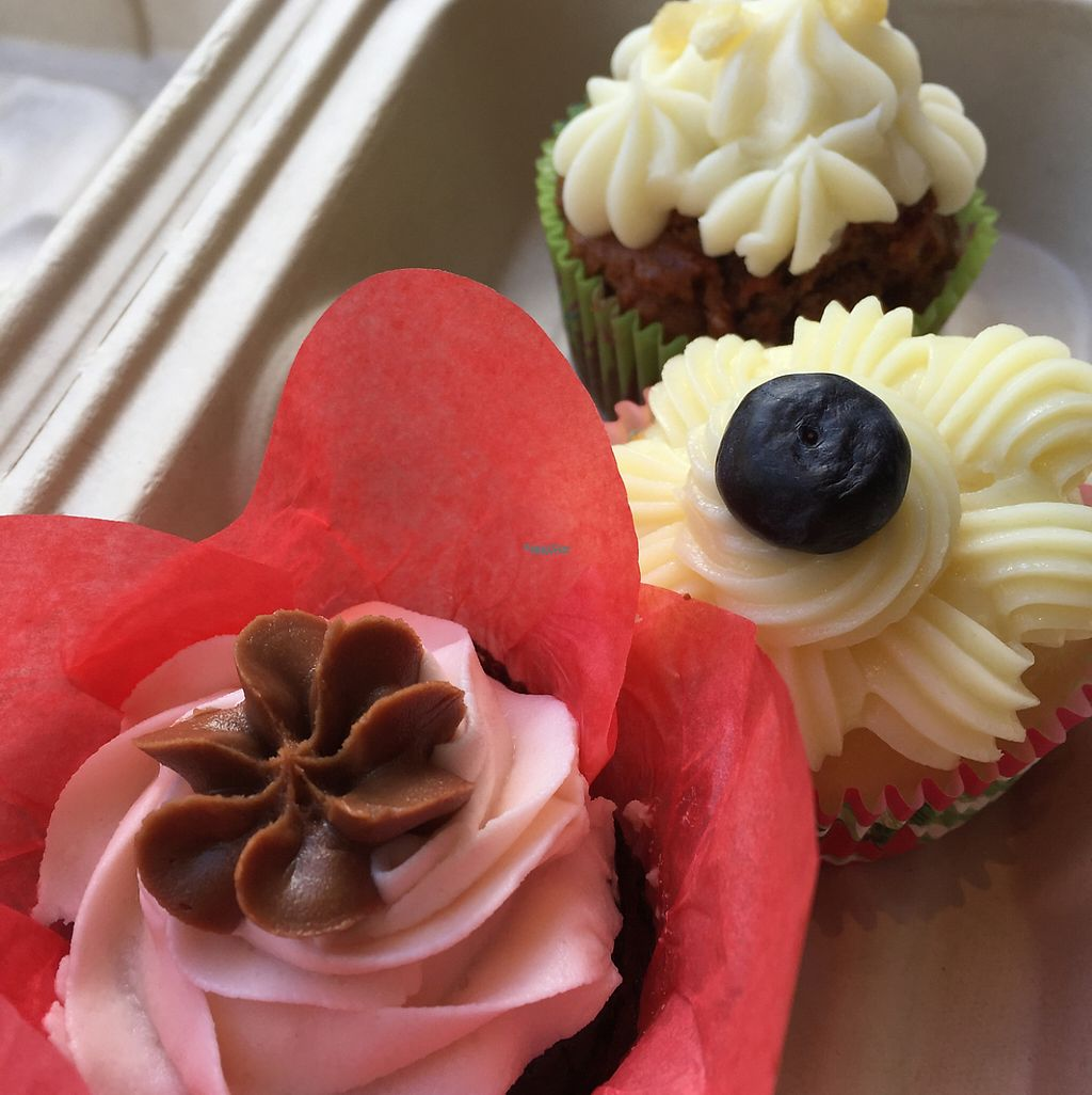 """Photo of Buttercup Cakes & Farmhouse Frosting  by <a href=""""/members/profile/VegAnne_Ca"""">VegAnne_Ca</a> <br/>vegan cupcakes chocolate lemon and carrot  <br/> March 25, 2017  - <a href='/contact/abuse/image/74318/240868'>Report</a>"""