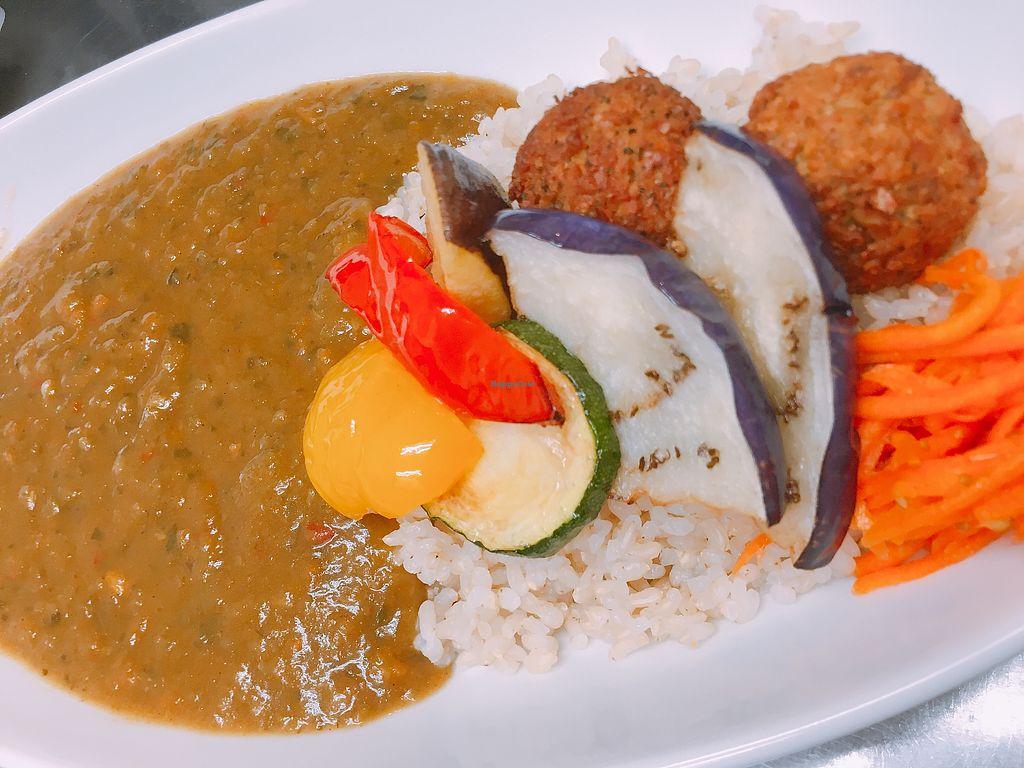"Photo of Vegan Cafe and Bar Karons  by <a href=""/members/profile/KanokoNozaki"">KanokoNozaki</a> <br/>Vegetable curry w/ falafels <br/> September 18, 2017  - <a href='/contact/abuse/image/74323/305608'>Report</a>"