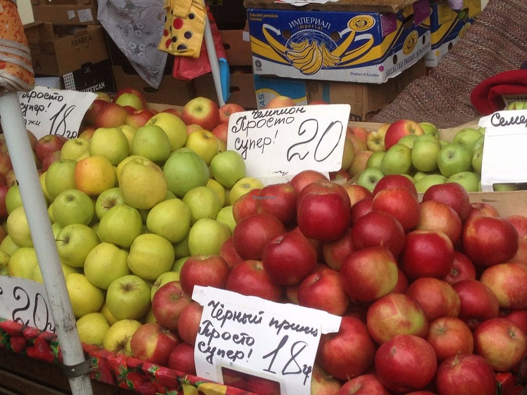 "Photo of Pryvoz Market  by <a href=""/members/profile/IrynaPietrova"">IrynaPietrova</a> <br/>Different types of apples <br/> May 30, 2016  - <a href='/contact/abuse/image/74327/151422'>Report</a>"