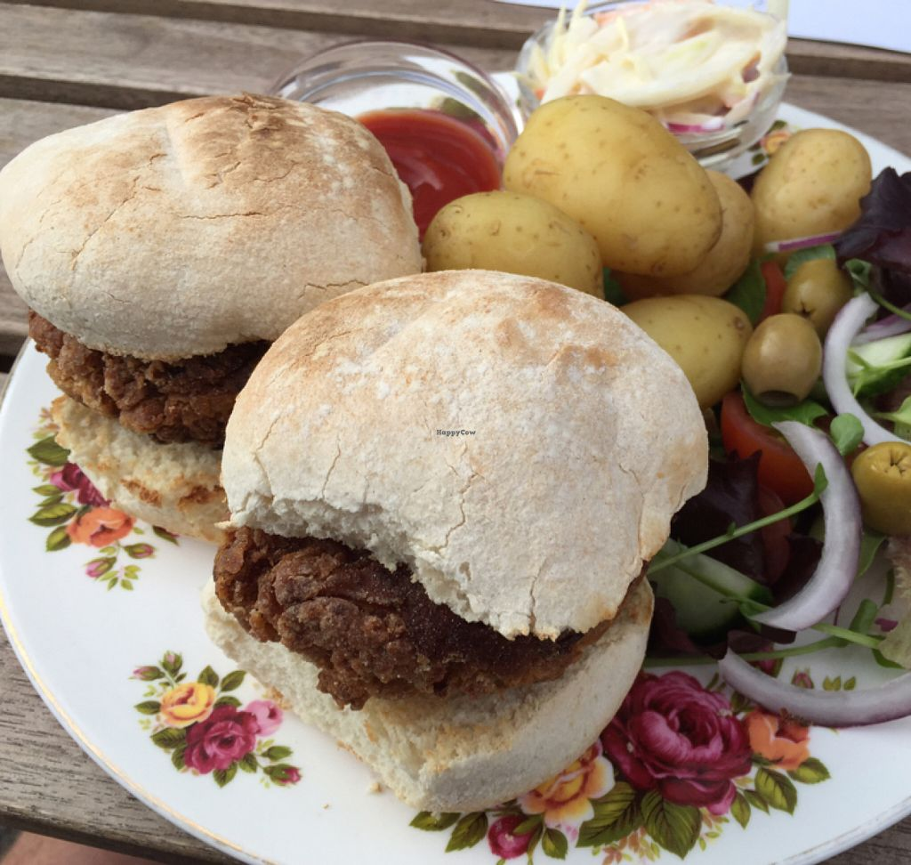 """Photo of CLOSED: Dolly's Vintage Tearoom  by <a href=""""/members/profile/Chris_D"""">Chris_D</a> <br/>Vegan burger <br/> July 22, 2016  - <a href='/contact/abuse/image/74331/161597'>Report</a>"""