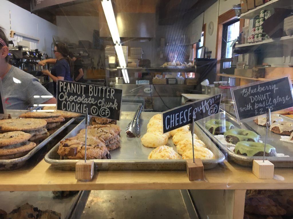 """Photo of Swamp Rabbit Cafe  by <a href=""""/members/profile/turtleveg"""">turtleveg</a> <br/>baked goods with vegan options  <br/> August 11, 2017  - <a href='/contact/abuse/image/74366/291382'>Report</a>"""