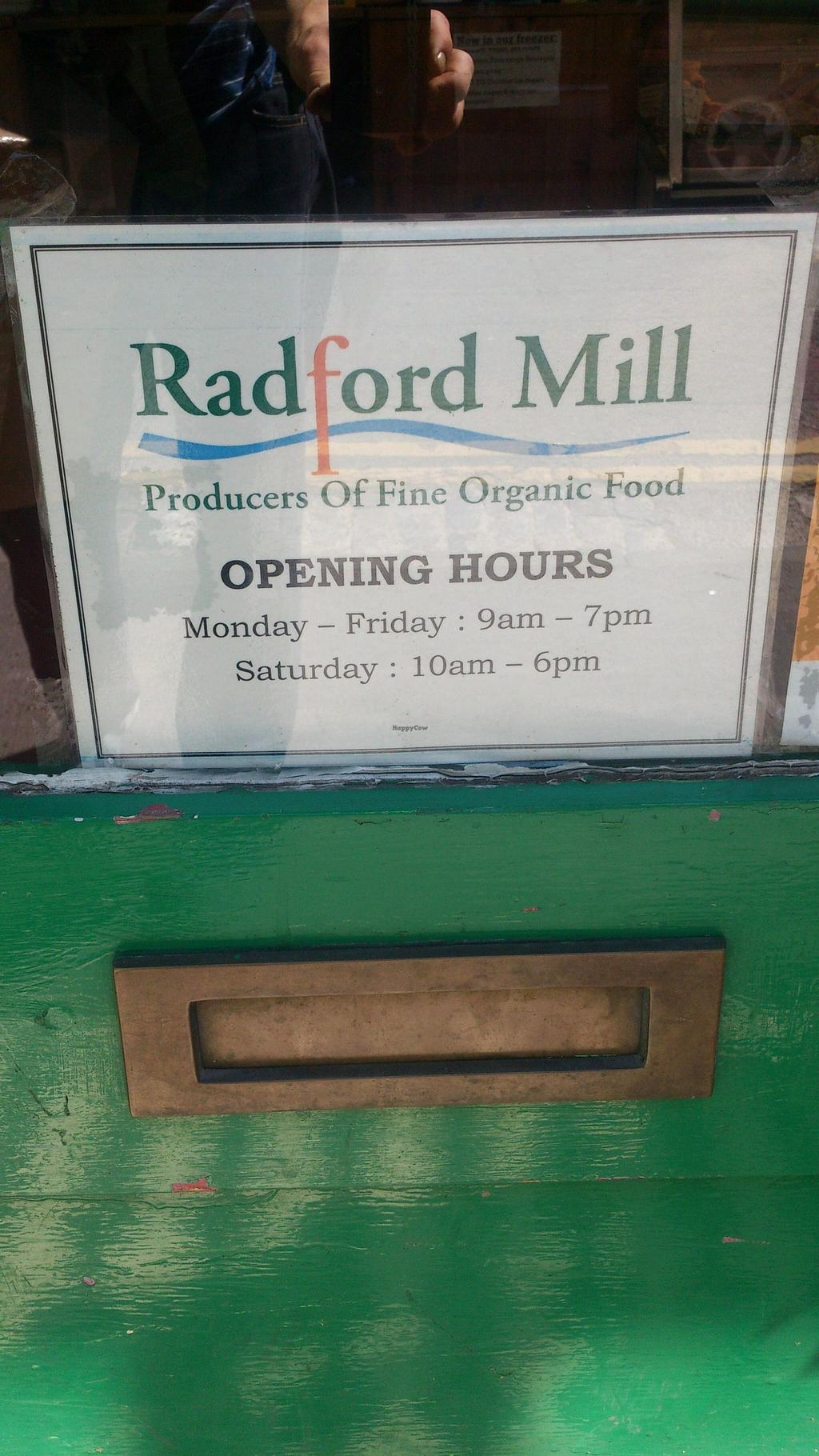 """Photo of Radford Mill Farm Shop  by <a href=""""/members/profile/mthauland"""">mthauland</a> <br/>Opening hours  <br/> July 13, 2014  - <a href='/contact/abuse/image/7436/73998'>Report</a>"""