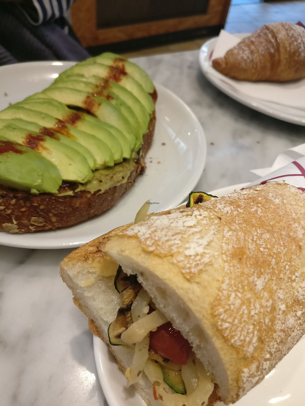 """Photo of Panini Durini  by <a href=""""/members/profile/JollBenn"""">JollBenn</a> <br/>Avocado toast. Grilled vegetables panini <br/> March 31, 2018  - <a href='/contact/abuse/image/74383/378627'>Report</a>"""
