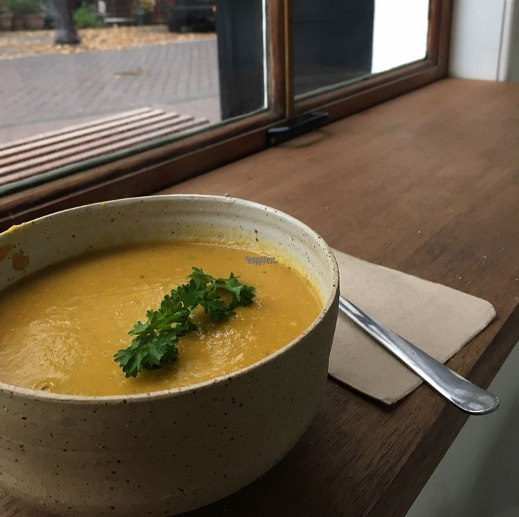 """Photo of The Cold Pressed Juicery - Herengracht  by <a href=""""/members/profile/KousKitchen"""">KousKitchen</a> <br/>vegan soup <br/> October 27, 2016  - <a href='/contact/abuse/image/74394/184630'>Report</a>"""