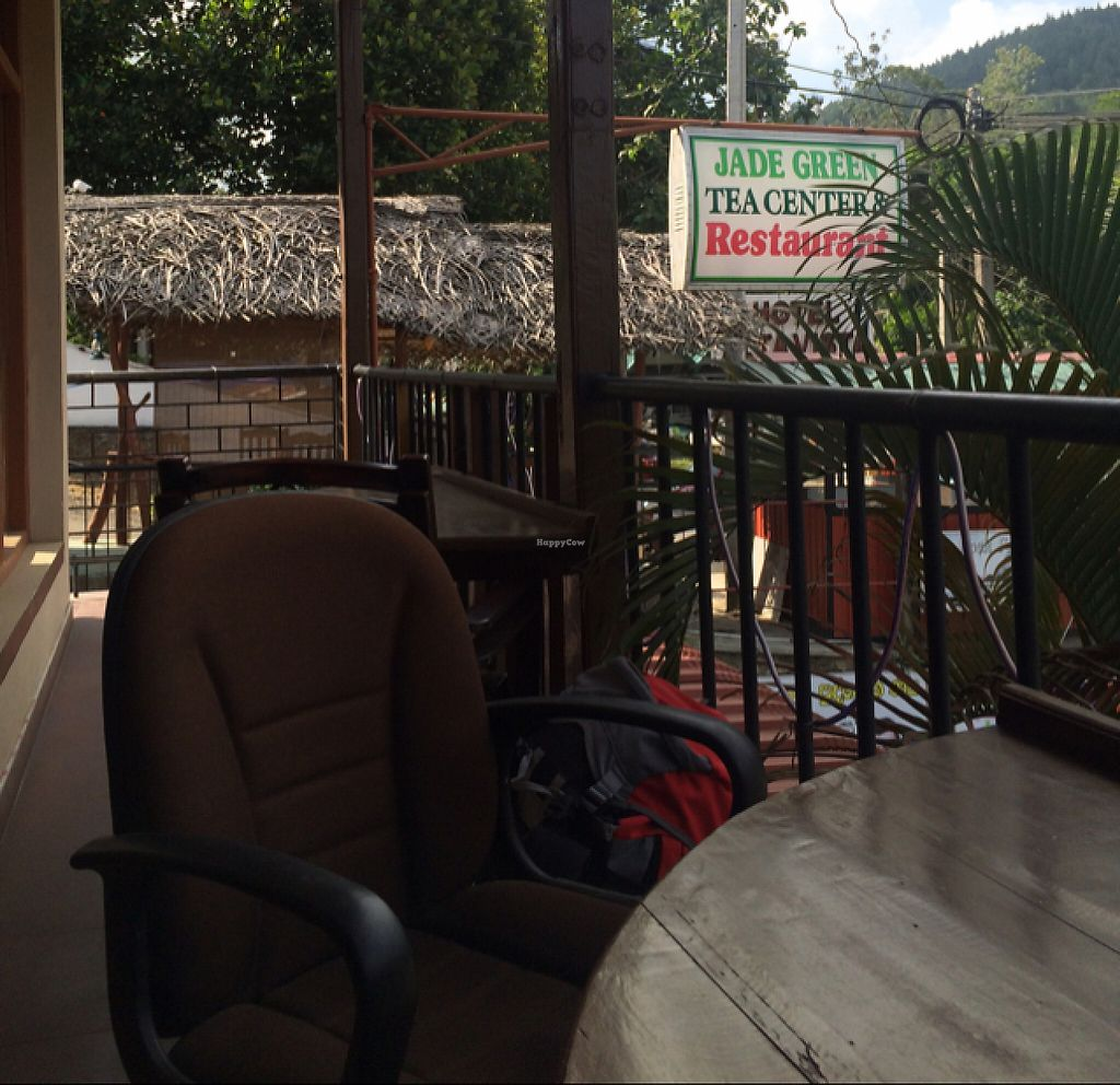 """Photo of Jade Green Tea Centre & Restaurant  by <a href=""""/members/profile/serrarose"""">serrarose</a> <br/>outdoor balcony seating  <br/> May 1, 2017  - <a href='/contact/abuse/image/74420/254482'>Report</a>"""