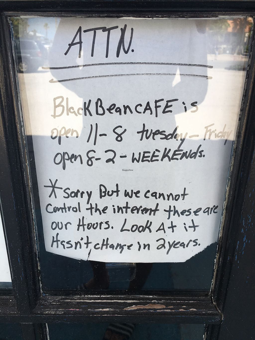 """Photo of Black Bean Cafe  by <a href=""""/members/profile/DanielAbrahamsson"""">DanielAbrahamsson</a> <br/>closed mondays <br/> July 12, 2017  - <a href='/contact/abuse/image/74427/279350'>Report</a>"""