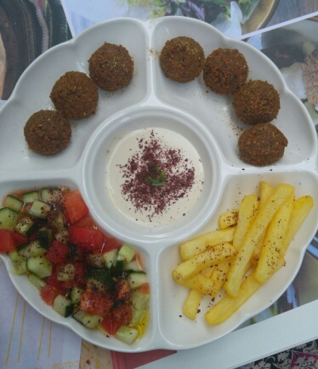 """Photo of Falafel  by <a href=""""/members/profile/Pummell"""">Pummell</a> <br/>Falafel plate <br/> June 23, 2016  - <a href='/contact/abuse/image/74438/235442'>Report</a>"""