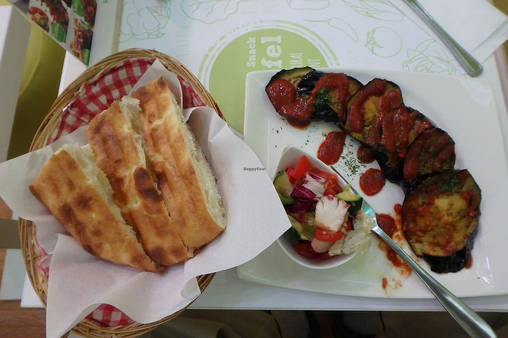 """Photo of Falafel  by <a href=""""/members/profile/sagar"""">sagar</a> <br/>Eggplant with Bread <br/> January 5, 2018  - <a href='/contact/abuse/image/74438/343335'>Report</a>"""