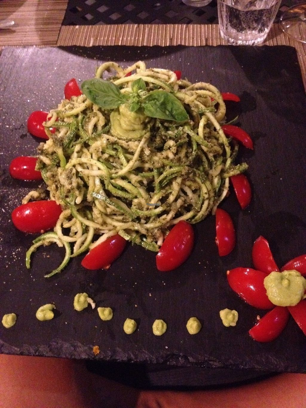 "Photo of Albisbe4  by <a href=""/members/profile/SophieSerex"">SophieSerex</a> <br/>zucchini noodles with sun ripened datternino cherry tomatoes and a deliciously creamy avocado and almond pesto <br/> August 15, 2016  - <a href='/contact/abuse/image/74465/169096'>Report</a>"