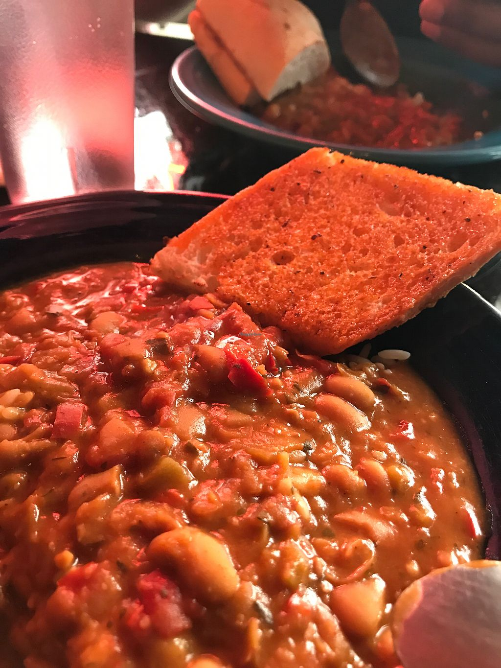 "Photo of Yats - College  by <a href=""/members/profile/LucyBolden"">LucyBolden</a> <br/>Vegan white bean chili <br/> July 27, 2017  - <a href='/contact/abuse/image/7447/285446'>Report</a>"