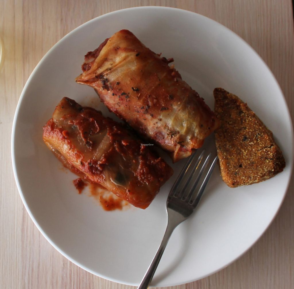 """Photo of Ukrop  by <a href=""""/members/profile/xAliveAndWellx"""">xAliveAndWellx</a> <br/>vegan cabbage rolls and burger with carrots <br/> June 2, 2016  - <a href='/contact/abuse/image/74481/243913'>Report</a>"""