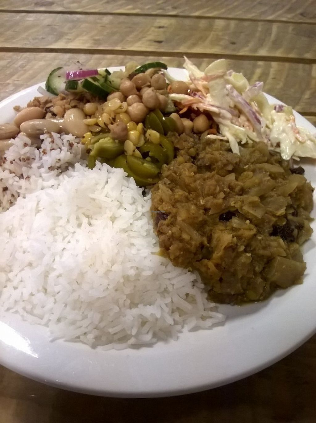 """Photo of Super Natural Kitchen  by <a href=""""/members/profile/deadpledge"""">deadpledge</a> <br/>Lentil daal curry with rice side salad <br/> July 18, 2016  - <a href='/contact/abuse/image/74502/160732'>Report</a>"""