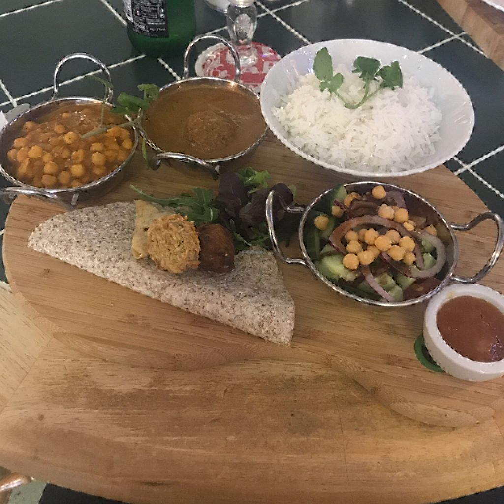 """Photo of Super Natural Kitchen  by <a href=""""/members/profile/BarryDavis"""">BarryDavis</a> <br/>Authentic Indian platter <br/> June 5, 2017  - <a href='/contact/abuse/image/74502/266024'>Report</a>"""