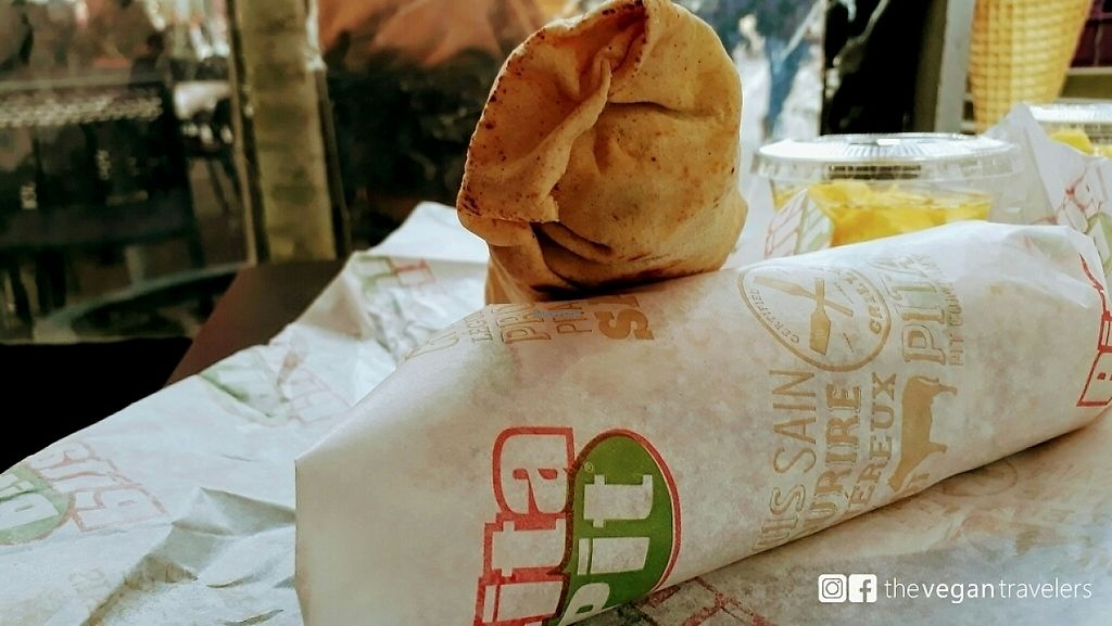 """Photo of Pita Pit  by <a href=""""/members/profile/thevegantravelers"""">thevegantravelers</a> <br/>Pita Pit <br/> May 31, 2017  - <a href='/contact/abuse/image/74531/264449'>Report</a>"""