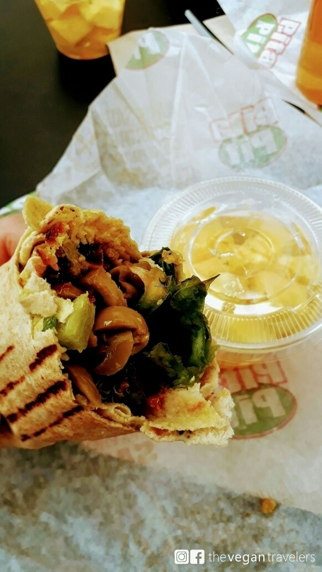 """Photo of Pita Pit  by <a href=""""/members/profile/thevegantravelers"""">thevegantravelers</a> <br/>Pita Pit <br/> May 31, 2017  - <a href='/contact/abuse/image/74531/264450'>Report</a>"""
