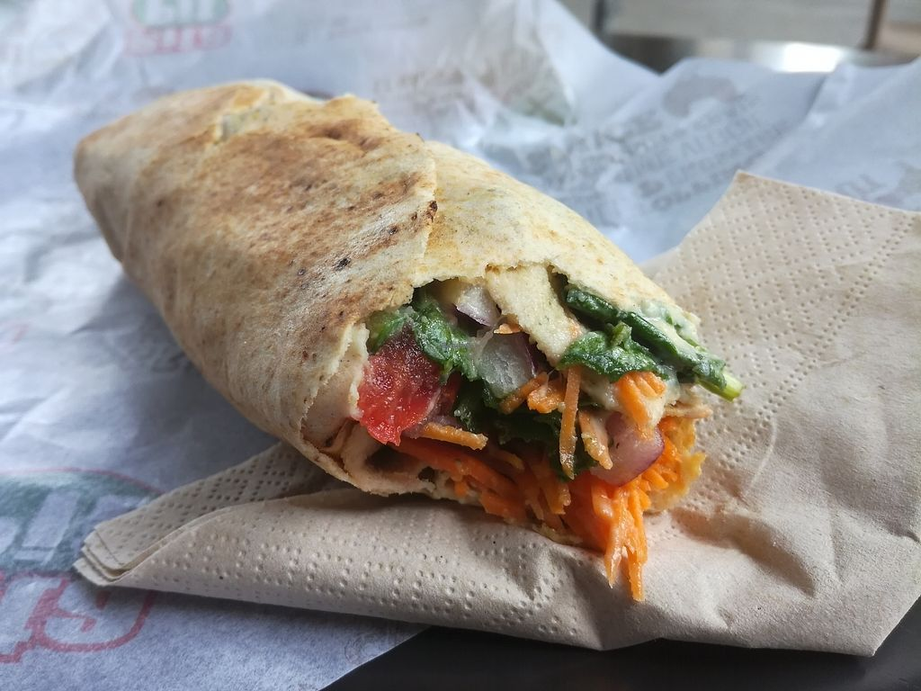"""Photo of Pita Pit  by <a href=""""/members/profile/happyowl"""">happyowl</a> <br/>Pita soy chunks w/ hummus <br/> August 6, 2017  - <a href='/contact/abuse/image/74532/289591'>Report</a>"""