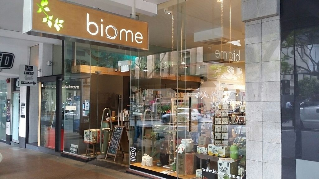 """Photo of Biome Eco Store - Brisbane City  by <a href=""""/members/profile/Mike%20Munsie"""">Mike Munsie</a> <br/>shop front <br/> May 5, 2017  - <a href='/contact/abuse/image/74536/255684'>Report</a>"""