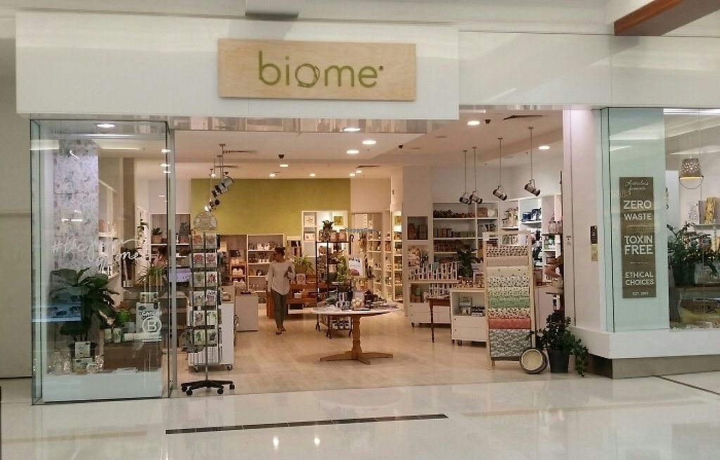 """Photo of Biome Eco Stores  by <a href=""""/members/profile/Mike%20Munsie"""">Mike Munsie</a> <br/>shop front <br/> May 4, 2017  - <a href='/contact/abuse/image/74537/255430'>Report</a>"""
